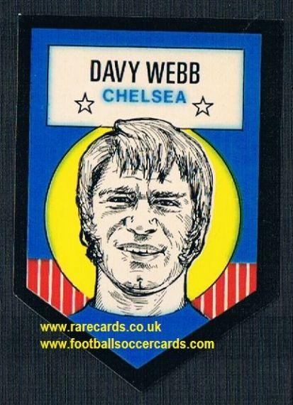 1972 BAB unused Shooting Stars Chelsea Davy Webb with backing paper